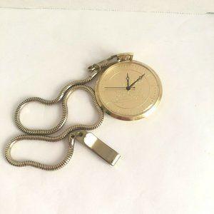 Vintage Disneyland Hotel Gold Tone Pocket Watch
